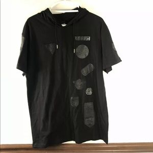 NWT Mens WT02 Hooded Short Sleeve Shirt L